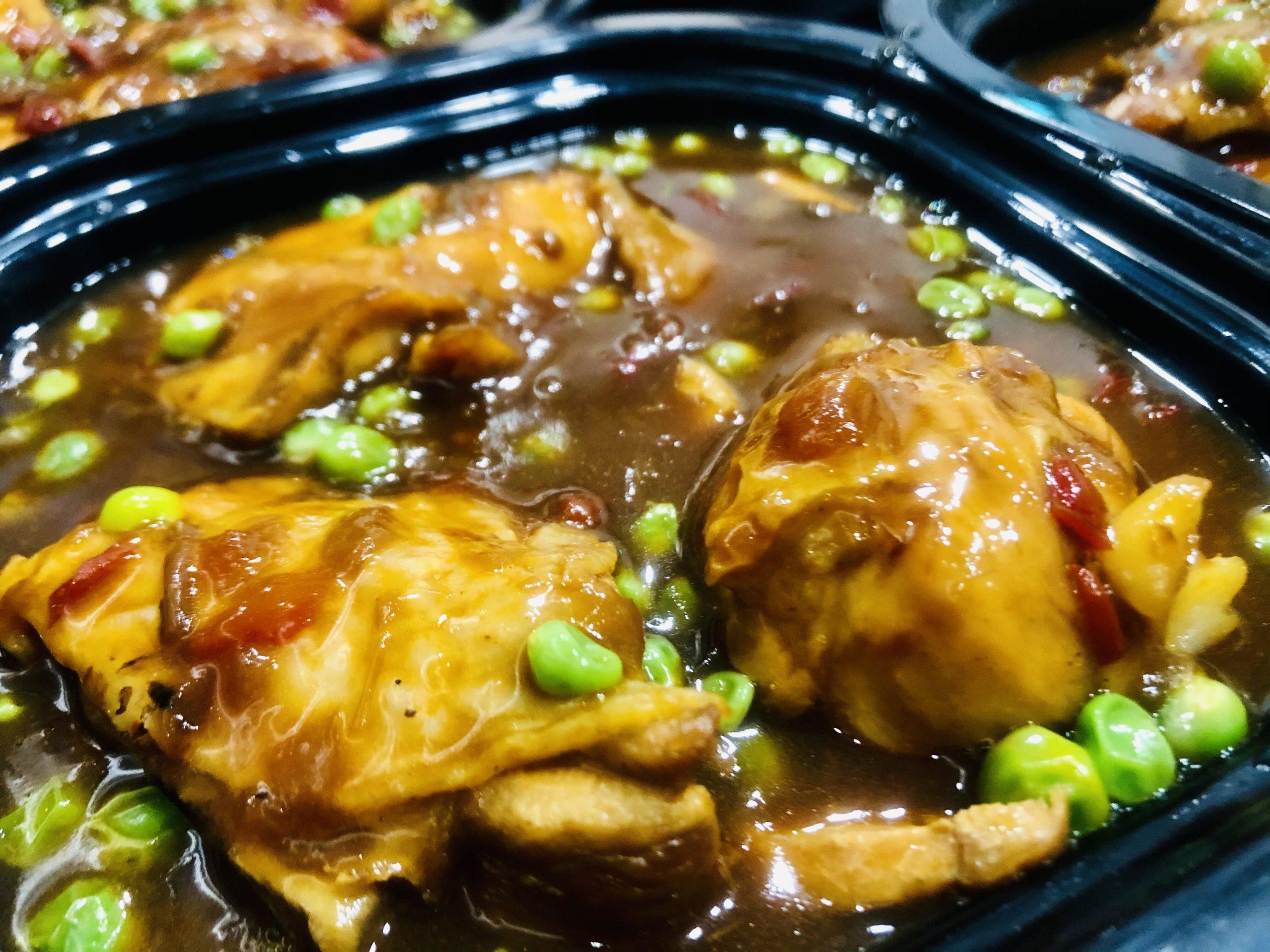 Pollo guisado al txakoli