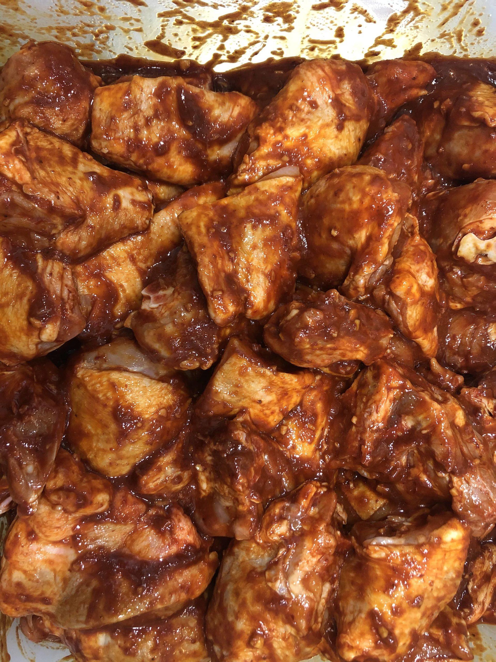Pollo al mole con boniato